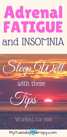 Adrenal Fatigue and Insomnia go hand in hand. Check out these natural sleep remedies and get some good sleep again! | chronic fatigue | natural remedies|  #exhausted #adrenalfatigue #chronicillness  #insomnia