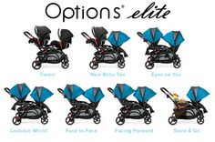 The NEW Contours Options Elite Tandem Stroller with 7 configurations #ContoursBaby