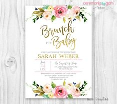 Baby Shower Invitation Baby Shower Brunch Baby Shower Brunch