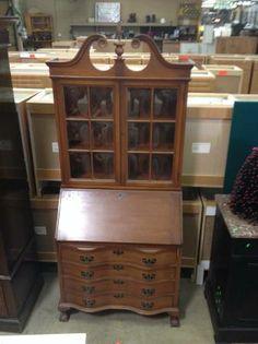 $450 - HFH Restore - MADDOX 36 Mahogany Chippendale Winthrop Secretary Desk