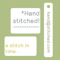 """Hand Stitched"" computer hand drawn font typeface by JudesDesigns at Etsy"