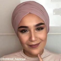 Simple Hijab Tutorial, Hijab Style Tutorial, Turkish Hijab Tutorial, Stylish Hijab, Modest Fashion Hijab, Modern Hijab, Hijab Turban Style, Mode Turban, Hair Wrap Scarf