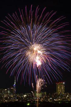 Nishi Nihon Oohori Fireworks - Fukuoka, Japan