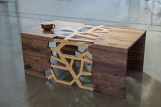 Geometrical Branching Coffee Table - Walnut Wow i really love this one!!!