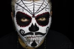 candy skull makeup men - Google Search