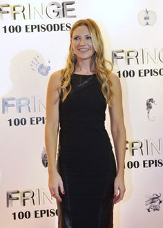 Anna Torv at the Fringe 100th episode party and finale event. Dec 6, 2012