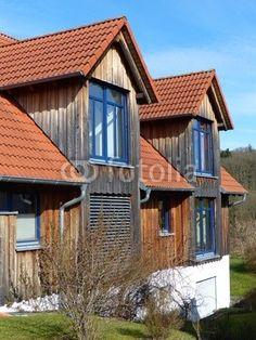 Wohnhaus und Dachgauben mit spitzem Giebel in Wettenberg Krofdorf-Gleiberg bei Gießen in Hessen