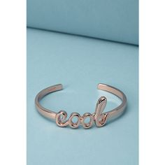 Forever 21 ban.do Cool Cuff ($17) ❤ liked on Polyvore featuring jewelry, bracelets, cuff bangle, cuff jewelry, rock jewelry, forever 21 und forever 21 bangle