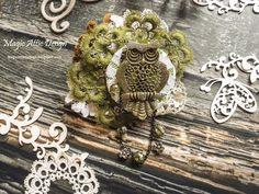 An owl brooch by Maria Lillepruun