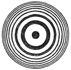 On looking at the film in monochromatic light he saw, with the delight attendant on fulfilled prevision, surrounding the place of contact, a series of bright rings separated from each other by dark ones, and becoming more closely packed together as the distance from the point of contact augmented (as in fig. 14).  Six lectures on Light, John Tyndall 1872