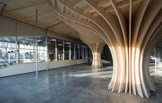Super-cool bowl at Oslo skatehall by Dark arkitekter & Glifberg+Lykke. Photo Finn Ståle Felberg. #architecture in #wood