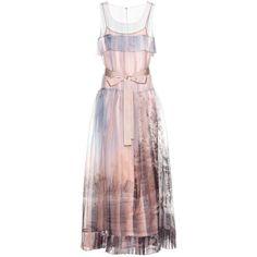 Fendi Silk Organza Dress (108,710 DOP) ❤ liked on Polyvore featuring dresses, gowns, multicoloured, fendi, silk organza dress, pink dress, colorful dresses and multicolored dress