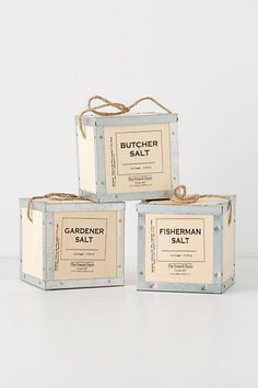 Packaging: The French Farm Salt (Actually it would be good if this were hand-made into gift boxes. #Justsaying