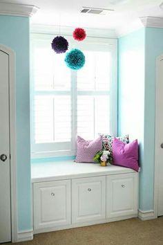 Tween bedroom - teal, hot pink, black & white chevron | Home ideas ...
