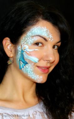 """Frozen"" Elsa inspired Face Painting Tutorial"