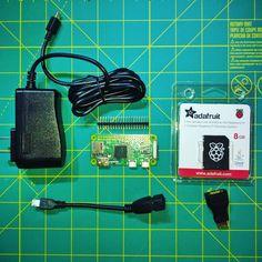 Got my Raspberry Pi Zero Budget Pack from Adafruit. Now to make something fun! Whee! #adafruit #raspberrypi #pizero #electronics #makersgonnamake #maker #raspberrypizero  #wheegeek