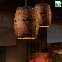 Barrel Drop Pendant Light