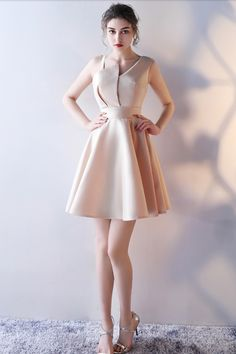 Banquet evening dress 2017 new Korean bridesmaid dress short student party party dress dress Champagne Bridesmaid Dresses, Short Bridesmaid Dresses, Homecoming Dresses, Trendy Dresses, Cute Dresses, Short Dresses, Formal Dresses, Beauty And Fashion, Style Grunge