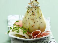 Découvrez la recette Poire au roquefort sur cuisineactuelle.fr.