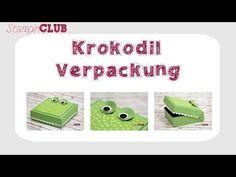 Krokodil Verpackung mit Anleitung - StampinClub
