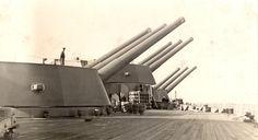 Nelson 16inch guns battleship.