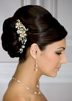 Bride's classic sleek updo bun wedding hairstyle ideas Toni Kami Wedding Hairstyles ♥ ❷