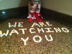 Elves on the Shelf ~ We are watching  you....  too funny.  soooo where does one buy these little elves??