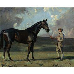 Sir Alfred James Munnings, BRITISH, 1878-1959 LADY TORRINGTON'S RICH GIFT