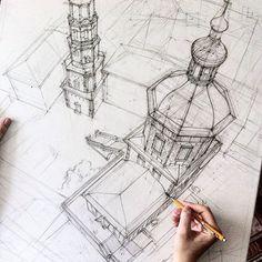 Легкость, красота, воздушность: архитектурные эскизы студентки из Казани..