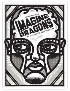 Beautiful Gig Poster Illustrations by Tad Carpenter