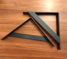 Two 2 Powder Coated Handcrafted Industrial Bent Metal Shelf Metal Shelf Brackets, Metal Shelves, Built In Shelves, Work From Home Business, Creating A Business, Metal Furniture, Home Decor Furniture, Drywall Installation, Blacksmith Projects