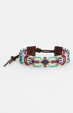 http://fave.co/U15FHm Chan Luu Beaded Leather Bracelet | Nordstrom