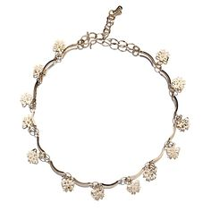 Flower Hanging 18k Plated Gold Golden Anklet Chain for Feet Decoration