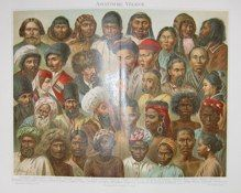 """asian peoples german 1894 lithograph 9 x 12"""" $30"""