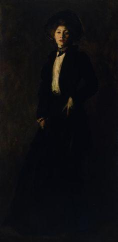 Robert Henri  American, 1865-1929, Young Woman in Black, 1902.