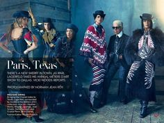 American Vogue - Paris, Texas ~ Karl Lagerfeld Designer~ Models All in Chanel Crystal Renn, Heather Marks, Joan Smalls, magda Laguinge, Stella Tennant  Kelley Brooks Pinner 
