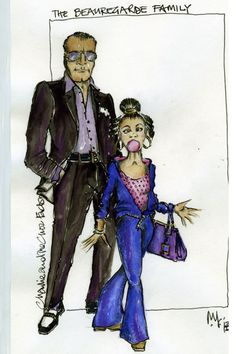Charlie and the Chocolate Factory (The Beauregarde Family) West End. Costume design by Mark Thompson.