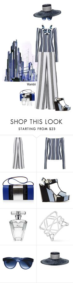 """""""Wambli Bold Stripes"""" by wambliwakan ❤ liked on Polyvore featuring Paper London, Jacquemus, Perrin, Dolce&Gabbana, Avon, Vince Camuto, Jacques Marie Mage, Eugenia Kim, Silvia Rossi and BoldStripes"""