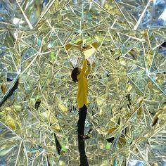 Installation by designers Masakazu Shirane + Saya Miyazaki entitled 'Wink' invites visitors to enter the life size kaleidoscope built insid...