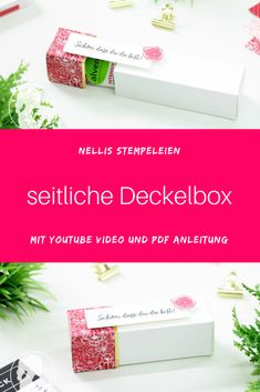 Eine Anleitung mit YouTube Video und PDF Anleitung. Diese Verpackung ist für eine kleine Tube Handcreme. Mit Produkten von Stampin' Up! hergestellt. Valentines Day Wishes, Valentines Day Dinner, Valentines Day Cookies, Stampin Up Anleitung, Valentine's Day Diy, Stamping Up, Goodies, About Me Blog, One Day