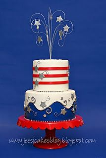 Red, White and Blue cake. Perfect for 4th of July