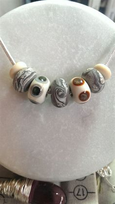Surf / pebble murano necklace