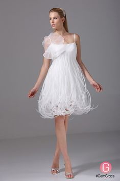 Only $149.9, Wedding Dresses Unique Spaghetti Straps Tassels Short Wedding Dress Reception #OP4086 at #GemGrace. View more special Wedding Dresses,Short Wedding Dresses,Wedding Reception Dresses now? GemGrace is a solution for those who want to buy delicate gowns with affordable prices, a solution for those who have unique ideas about their gowns. 2018 new arrivals, shop now to get $10 off!