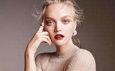 Download wallpapers Gemma Ward, australian supermodel, photo shoot, fashion model, beige sweater, make-up, portrait, blonde, actresses