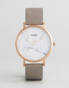 Buy CLUSE La Roche Rose Gold White Marble & Grey Leather Watch at ASOS. Get the latest trends with ASOS now. Trendy Watches, Cute Watches, Elegant Watches, Watches For Men, Fancy Watches, Popular Watches, Ladies Watches, Women's Watches, Wrist Watches
