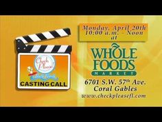 Check, Please! Auditions at Whole Foods! South Florida, Whole Food Recipes, It Cast, Foods, Check, Youtube, Food Food, Youtube Movies
