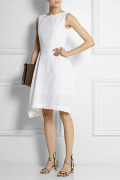 White broderie anglaise cotton Concealed zip fastening along back 100% cotton Hand wash