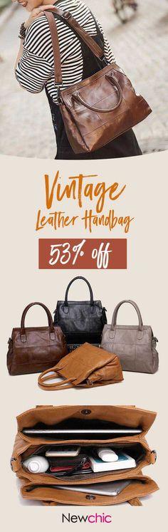 【US$59.97】Vintage Genuine Leather Women Handbag Crossbody Bag Shoulder Bags #totebag #womentote #handbagsandpurse #leatherbags