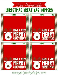 Free printable christmas treat bag toppers printables just peachy designs free christmas treat bag toppers negle Images