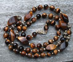Vintage Tiger Eye and Gold Filigree by Gener8tionsCre8tions, $80.00